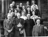 1951 dedication of WoodworkRm Bp Heenan Fr Thorpe
